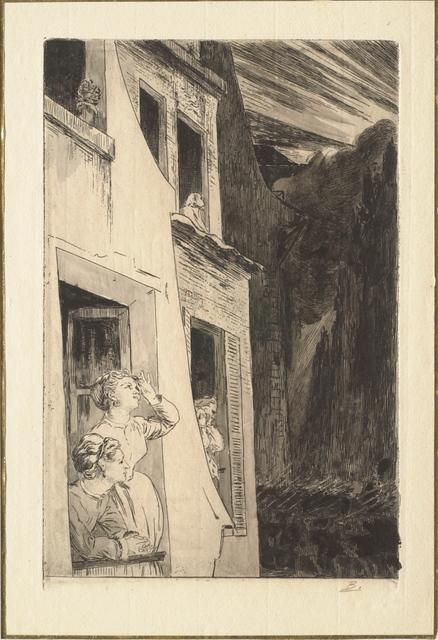 Félix Bracquemond, 'Vignette Pour L'Eclipse ', 1869, Print, Etching and aquatint on laid paper, Clark Art Institute