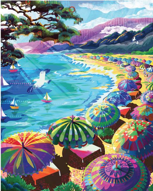 , 'French Riviera - Original oil painting,' 2018, Newport Brushstrokes Fine Art