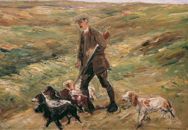 Max Liebermann, 'Hunter in the Dunes', 1913, Painting, Belvedere Museum