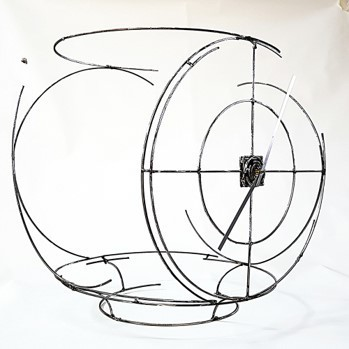 Juan Garaizabal, 'Lost Pennstation Clock III', 2020, Sculpture, Steel and clock Mechanism, Bogena Galerie