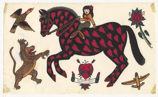 , 'Untitled (Horse with Hearts),' ca. 1950, Ricco/Maresca Gallery