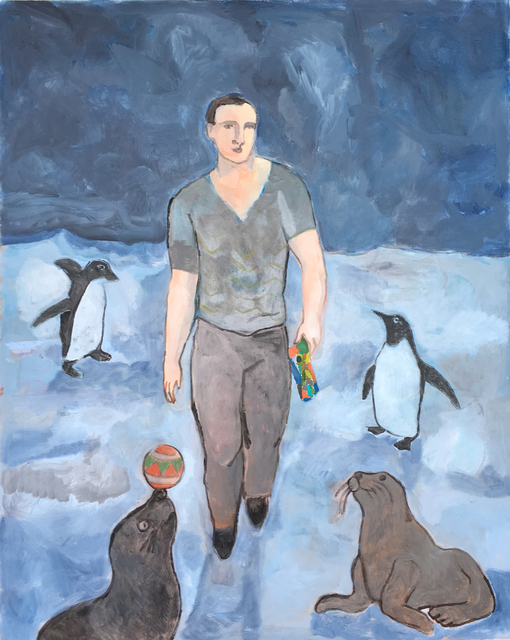 , 'The Wayfarer With Penguins and Seals,' 2017, Marc Straus