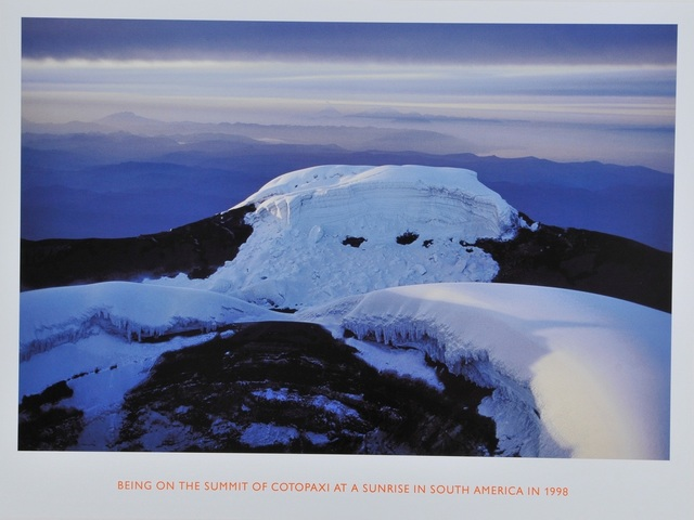Richard Long, 'Being on the summit of Cotopaxi at a sunrise in South America', 1998, Artsnap