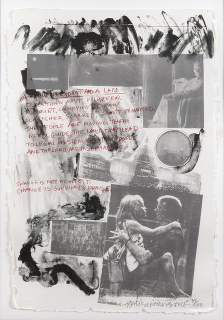 Robert Rauschenberg, 'Jimmy Carter Inaugural', 1977, Print, Lithograph on paper, Julien's Auctions