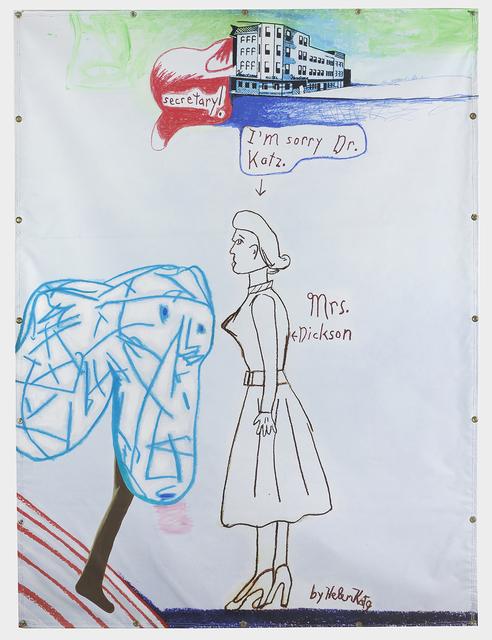David Humphrey, 'Helen Draws Mrs Dickson', 2018, CRUSHCURATORIAL