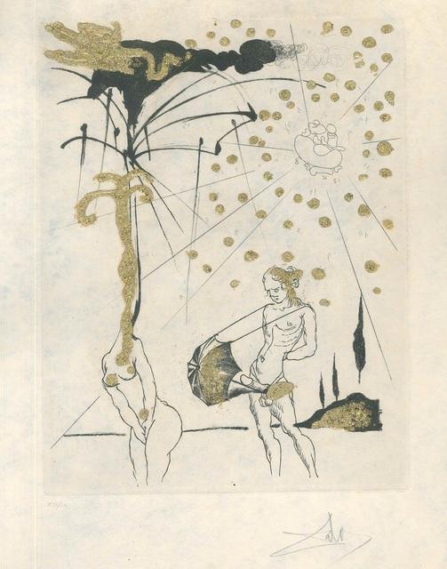 "Salvador Dalí, 'Le Poète Contumace - from ""Les Amours Jaunes""', 1974, Wallector"