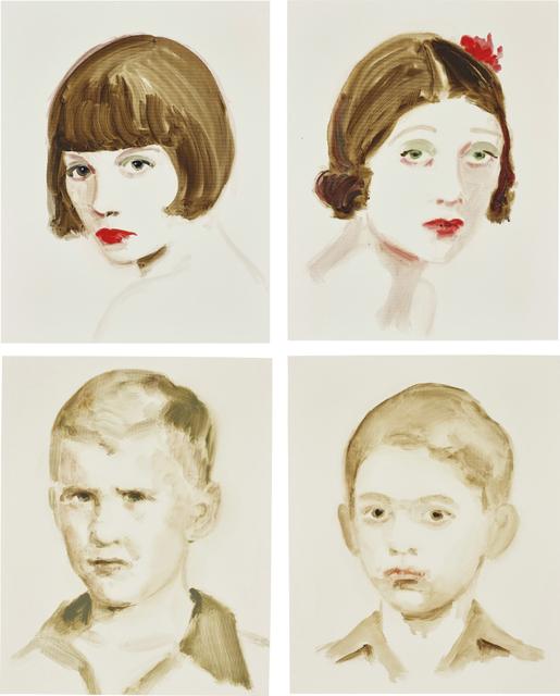 Annie Kevans, 'Four works: (i) Louise Brooks; (ii) Barbara La Marr; (iii) Bush; (iv) Ghandi', (i, ii) 2007; (iii, iv) 2006, Phillips