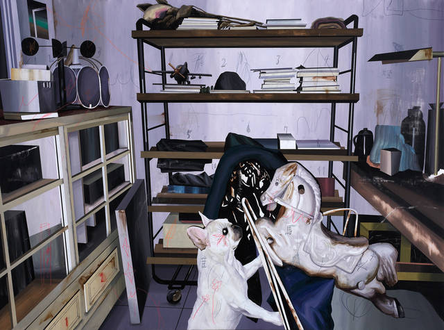 Shih Yung Chun, 'Demonstration of Family life. F – Beans and Plastic Horse', 2016, Painting, Oil on Canvas, Yiri Arts