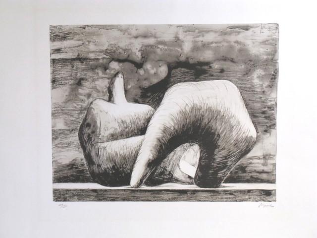 Henry Moore, 'Reclining figure pointed C. 543', 1979, Kunzt Gallery