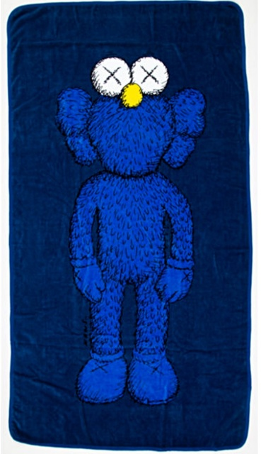 KAWS, '67 inch BFF 100% Cotton Wall Hanging/Beach Towel', 2016, Alpha 137 Gallery