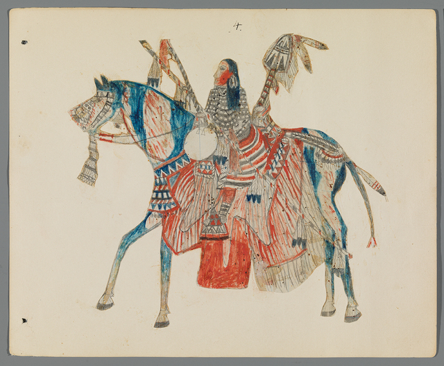 , 'Ledger Drawing,' ca. 1890, Donald Ellis Gallery