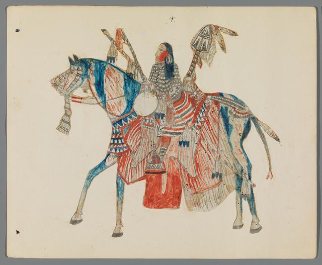 , 'Ledger Drawing,' ca. 1890, Donald Ellis Gallery