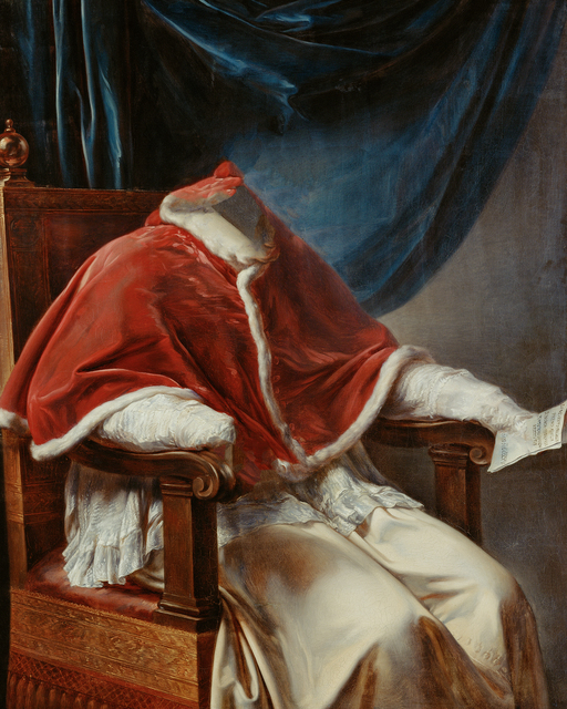 , 'Caput # 08 / 1261, based on POPE PIUS VII. (1740–1823) by Vincenzo Camuccini, 1814–1815,' 2018, Galerie Reinthaler