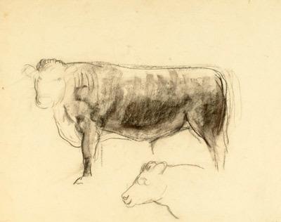 , 'Bull: Study for Ajax ,' 1931, Kiechel Fine Art