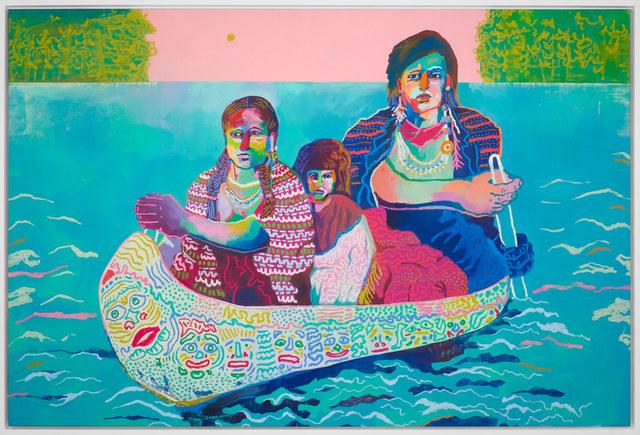 , 'Canoe Crossing,' 2017, Rebecca Hossack Art Gallery
