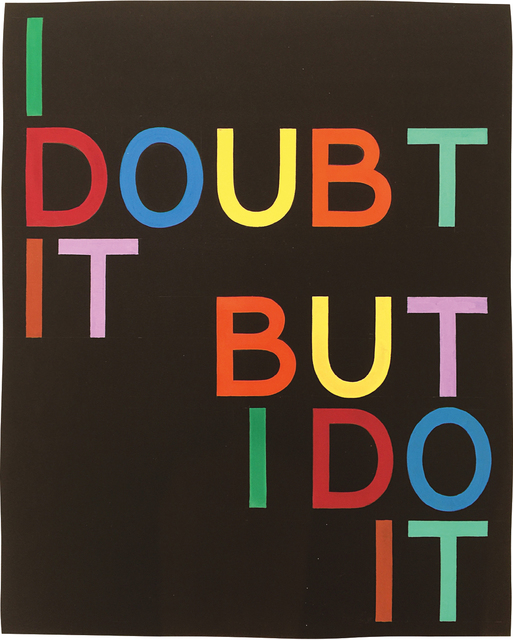 Tauba Auerbach, 'I Doubt It/But I Do It I', 2008, Phillips
