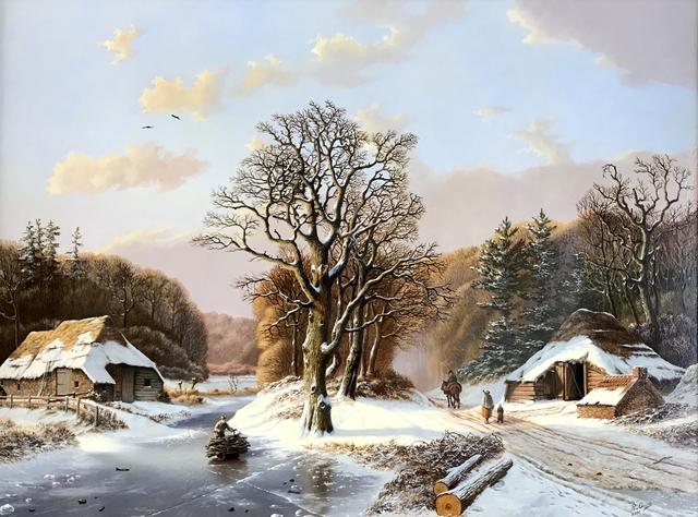 , 'Romantic winter landscape with figures.,' , ArtBoutique