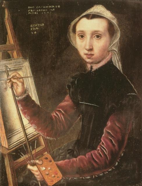 Catharina van Hemessen, 'Self-portrait', 1548, Painting, Oil on wood panel, Art History 101