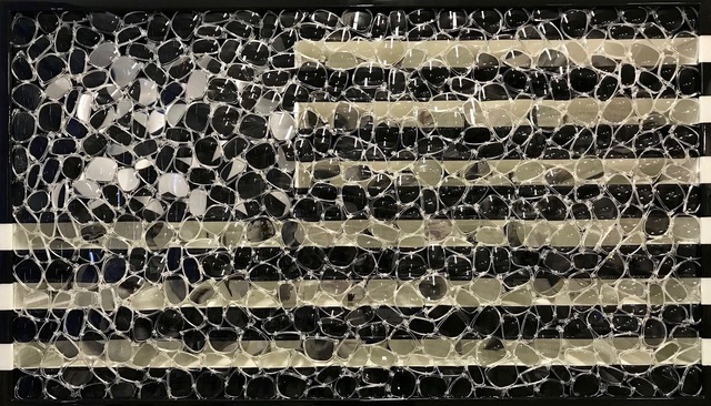 , 'Black USA Flag,' 2016, Gilles Clement Gallery