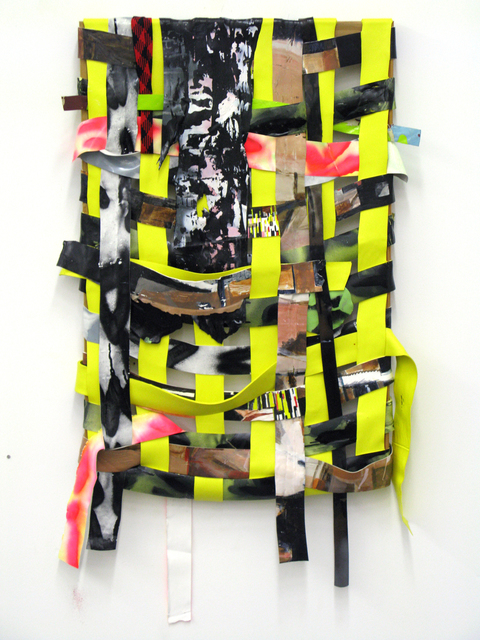 , 'WEave Painting (Cultural Charade, Critical Collapse),' 2012, moniquemeloche