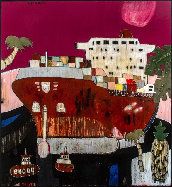 , 'Beetroot Soup And Sour Loaf Inside That Container,' 2015, Rebecca Hossack Art Gallery