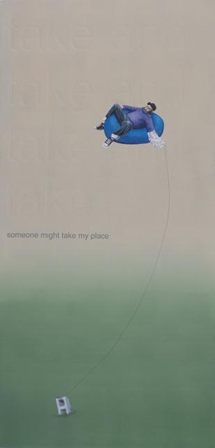 , 'take and take and take and take / someone might take my place,' 2017, Ro2 Art