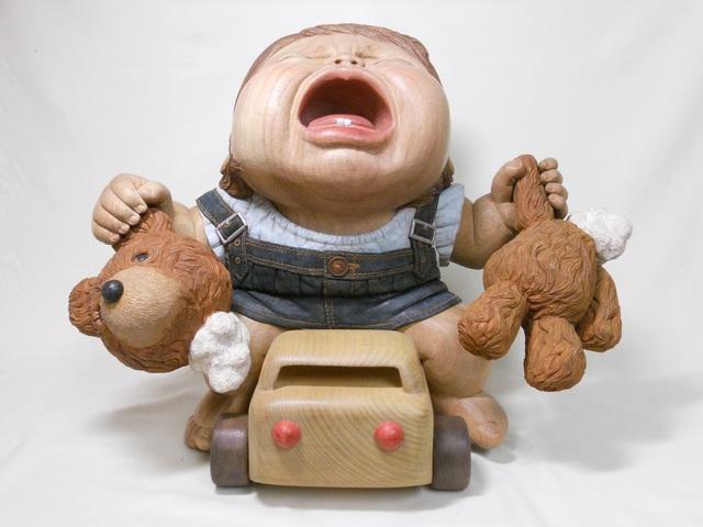 Miki NAGASAKI, 'Scream', 2013, Sculpture, Camphor, acrylic paint, Watanuki Ltd. / Toki-no-Wasuremono