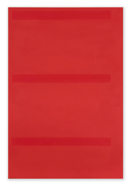 , 'Lined Space Red,' 2018, Richard Levy Gallery
