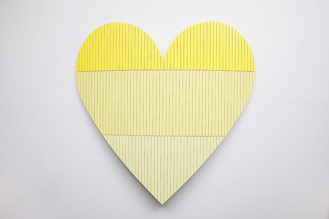 , 'Heart 1 (Yellow),' 2016, Cade Tompkins Projects