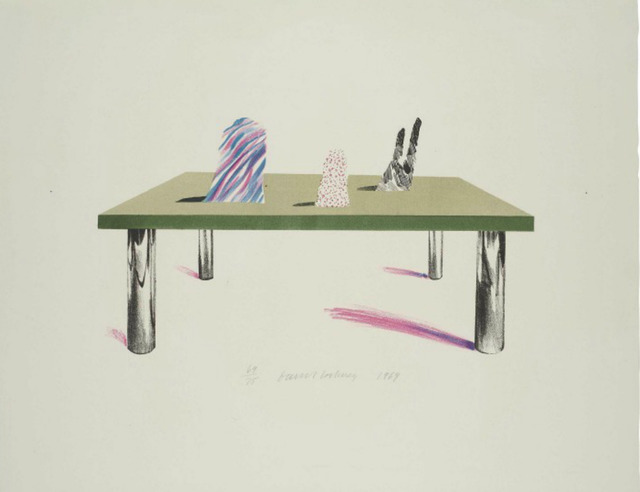 David Hockney, 'Glass Table with Objects', 1969, Kunzt Gallery