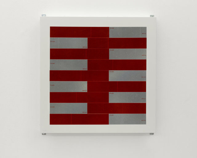 , 'OS WL 9 18352 (reflective tape),' 2016, Charlie James Gallery