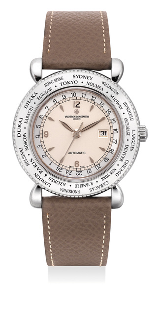 Vacheron & Constantin, 'A fine and attractive limited edition white gold world time wristwatch with date and center seconds, numbered 57 of 100 pieces', 2001, Phillips