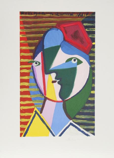 Pablo Picasso, 'Visage de Femme sur Fond Raye, 1934', 1979-1982, Print, Lithograph on Arches paper, RoGallery