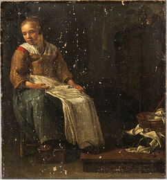 Young Woman in an Interior