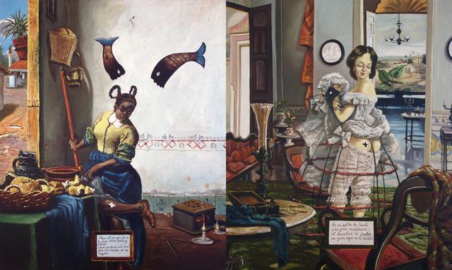 , 'Aqui el que no tiene de una cosa tiene de la otra,' 1997, Track 16 Gallery