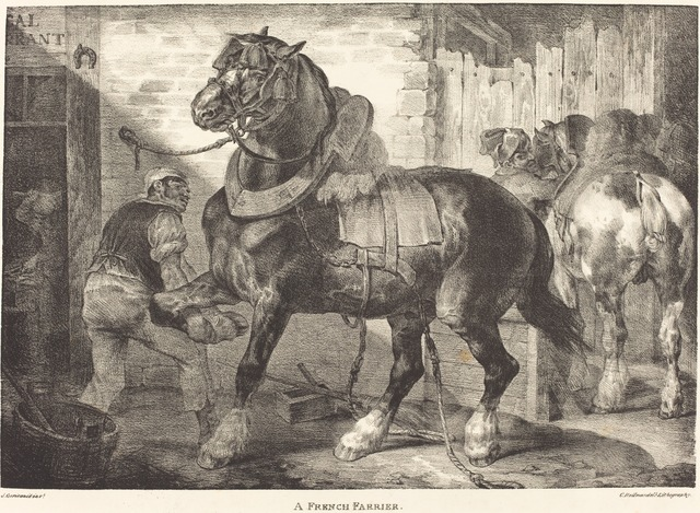Théodore Géricault, 'A French Farrier', 1821, National Gallery of Art, Washington, D.C.
