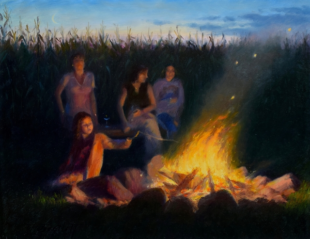 William Bartlett, 'Stoking the Dragon', 2019, Painting, Oil, The Guild of Boston Artists