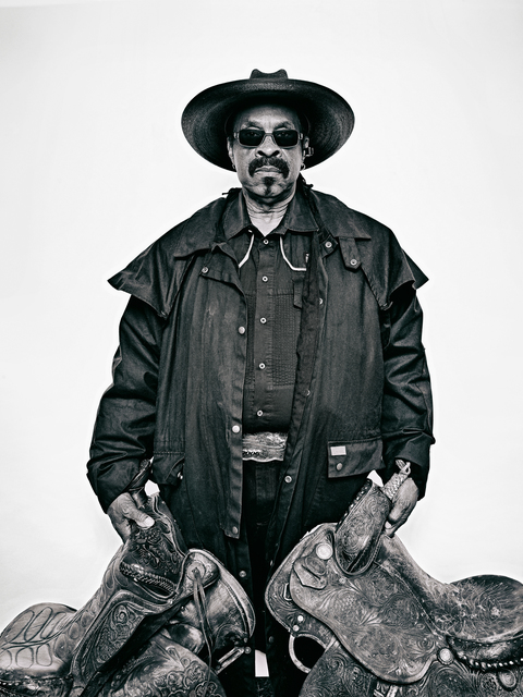 ", 'Arthur ""J.R."" Fulmore, from ""The Federation of Black Cowboys"" series for The Village Voice,' 2016, The Studio Museum in Harlem"