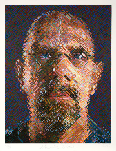 Chuck Close, 'Self-Portrait', 2007, Print, 203-color screenprint, Adamson Gallery