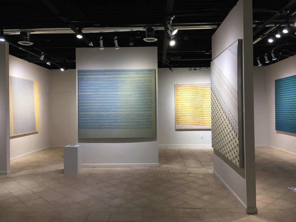 Anthony Greco: Paintings from the 1970s. Left to Right: 314/Nineteen (1977), 314/Fifteen (1976), 314/Twelve (1976), Tiles#2, 314/Eleven (1975)