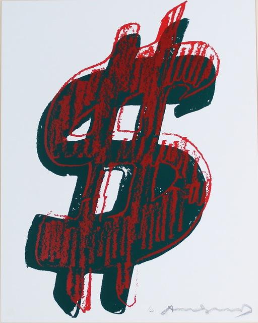 Andy Warhol, 'Dollar Sign (FS II.278)', 1982, Print, Screenprint on Lenox Museum Board, Revolver Gallery