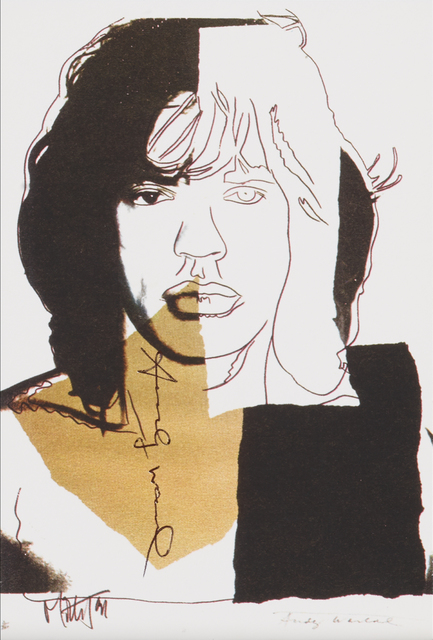 Andy Warhol, 'Mick Jagger', 1975, Print, Complete set of ten announcement cards, Rago/Wright