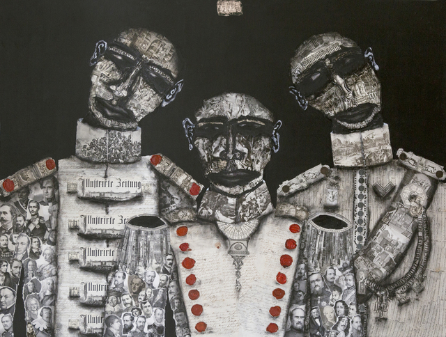 Kent Richardt, 'Brothers in Arms XV', 2019, Painting, Mixed media on canvas, Oxholm Gallery