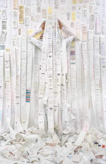 , 'Lost in My Life (Receipts Back),' 2016, Yancey Richardson Gallery