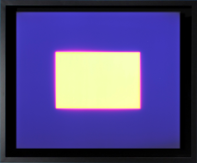 , 'Yellow Rectangle in Purple,' 2007, HackelBury Fine Art
