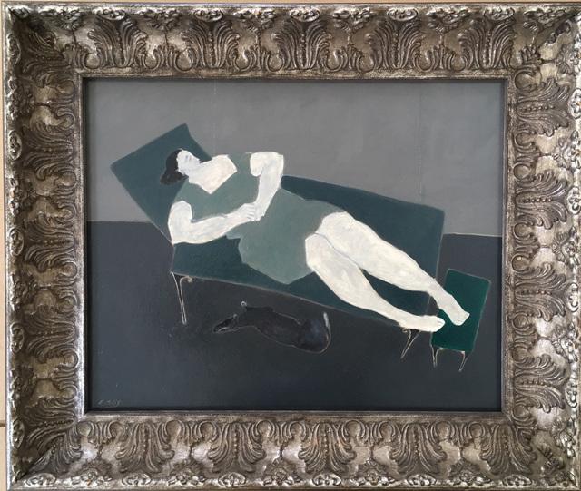 , 'The House On Salazar St. / Green Ottoman,' 2018, Emmanuelle G Gallery