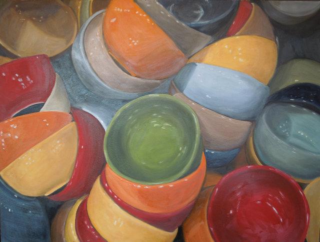 "Eve Plumb, '""Fishs Eddy Bowls Green Jewel""', 2016, Bonner David Galleries"