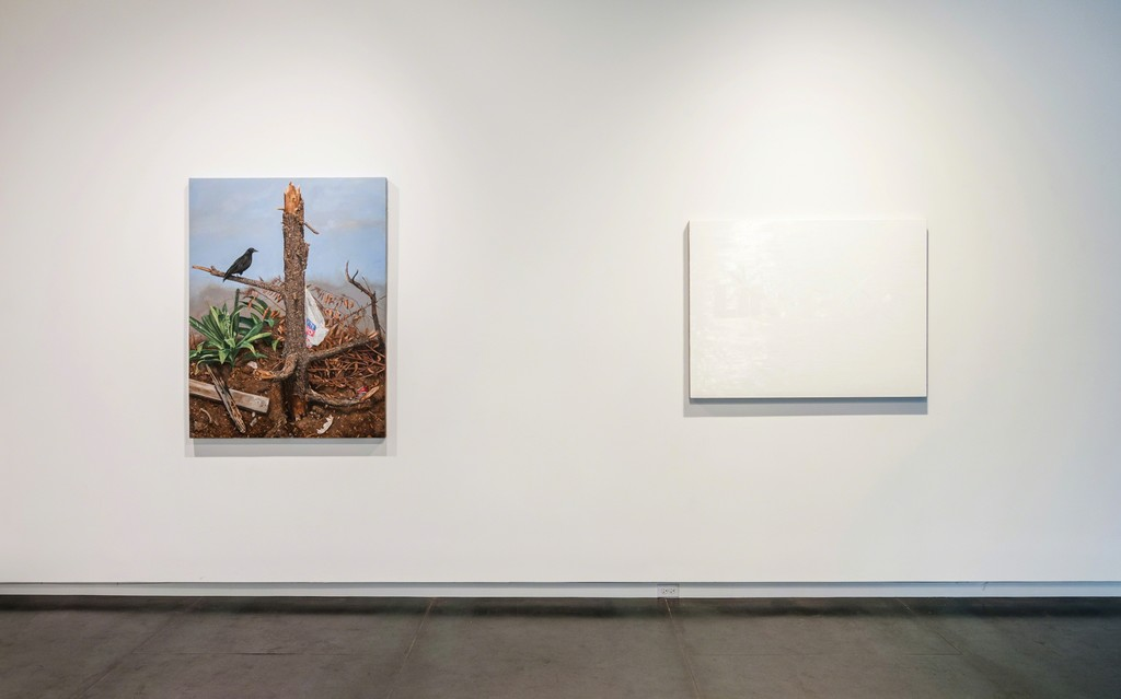 LA Landscape by Scott Marvel Cassidy, and WHITE Lite by Ray Anthony Barrett. Photo by Mario Gallucci.