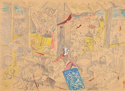 , 'Café de Flore,' 1990, Galerie Boisseree
