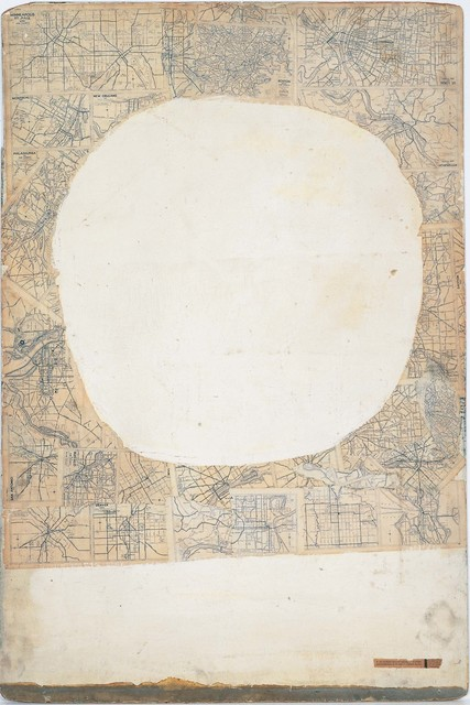 Robert Rauschenberg, 'Mother of God', ca. 1950, Oil, enamel, printed maps, newspaper, and copper and metallic paints on Masonite, Robert Rauschenberg Foundation